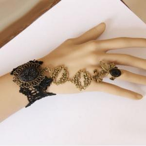 Handmade fashion black lace butterf..