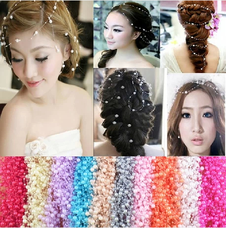 Fashion free rein mutable shape hair jewelry beautiful hair accessories bride jewelry hairband 7 colors H03